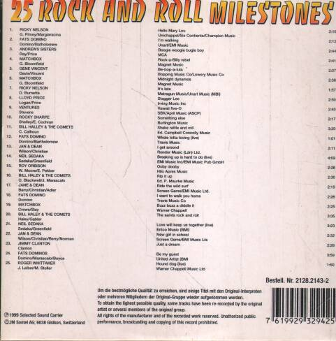 Various - 25 Rock and Roll Milestones vol. 6 ilustr.1