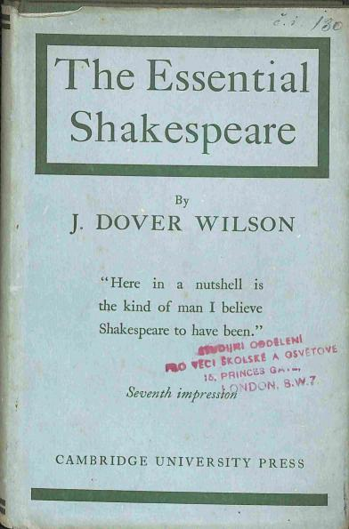 Wilson Dover J. - The Essential Shakespeare