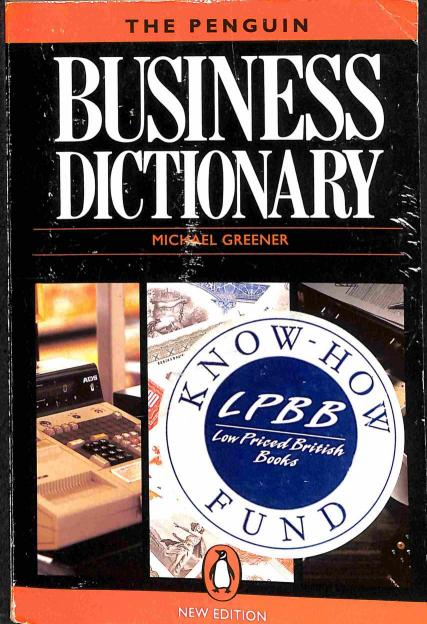 Greener Michael - The Penguin Business Dictionary
