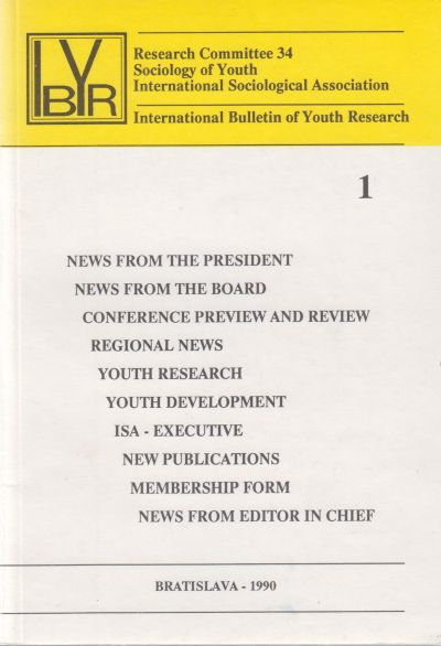 Časopis - International Bulletin of Youth Research 1990-98 (11 čísiel)