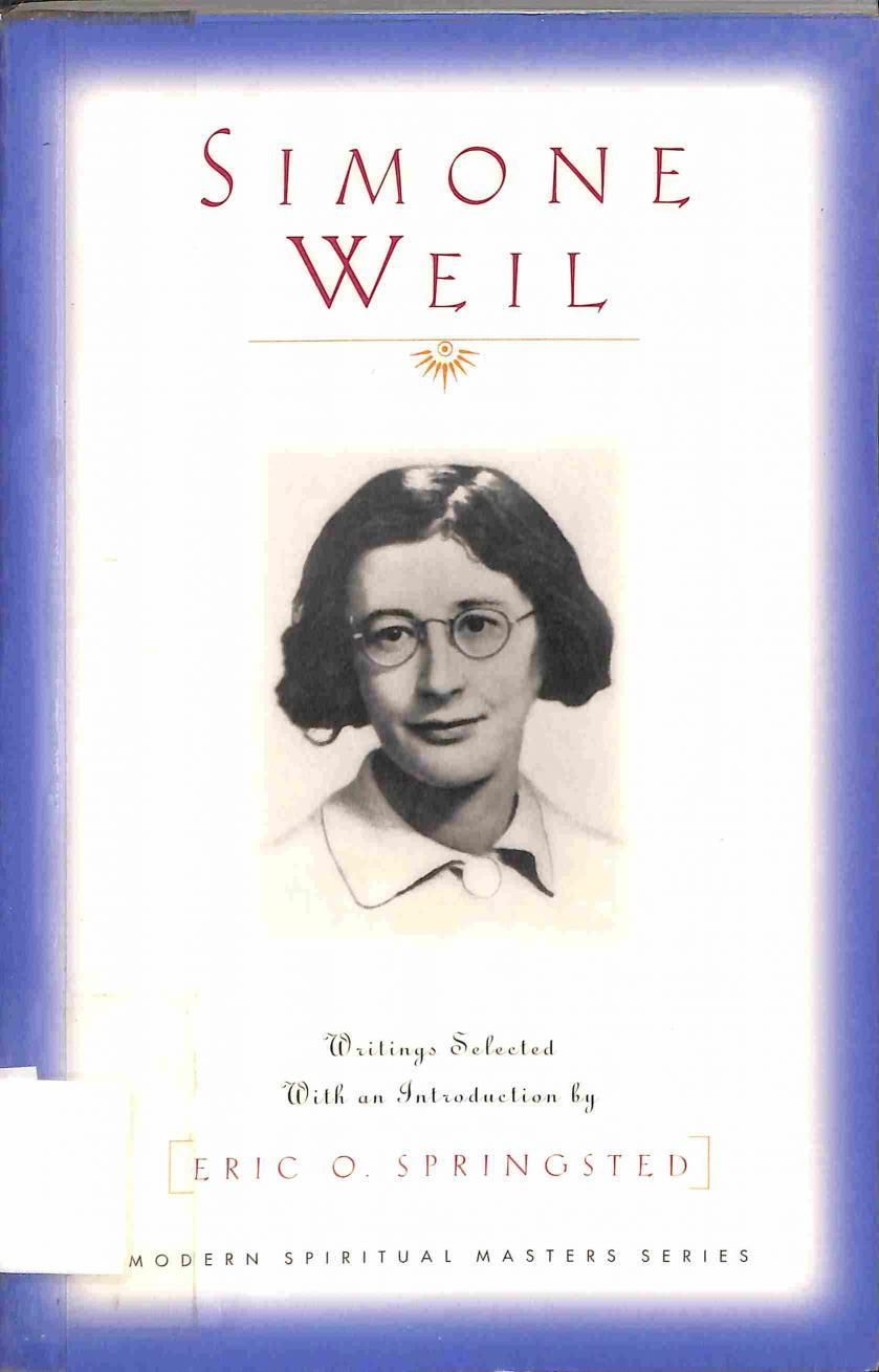 Springsted O.Eric - Simone Weil