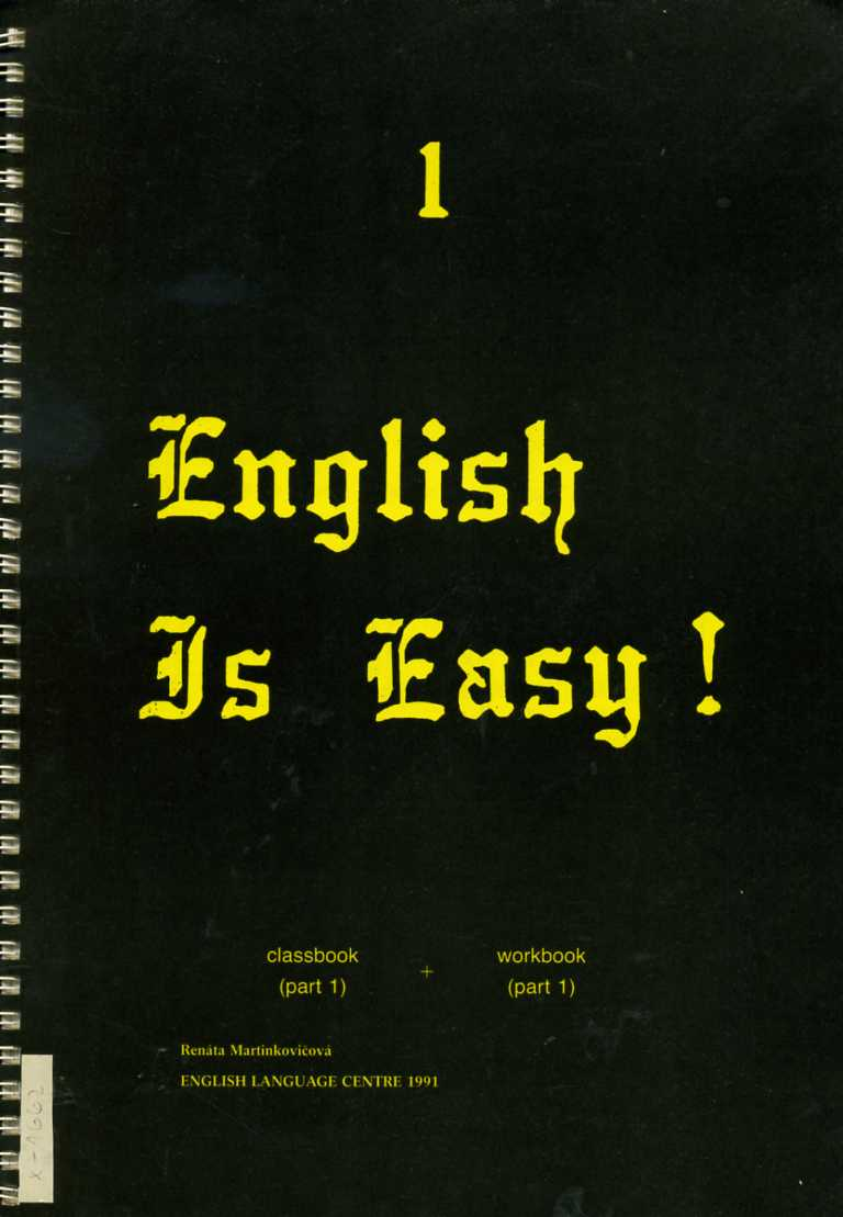 Martinkovičová Renáta - English Is Easy! 1