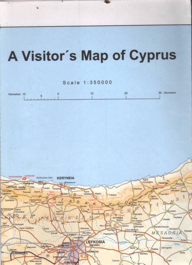 Mapa - A Visitors Map of Cyprus