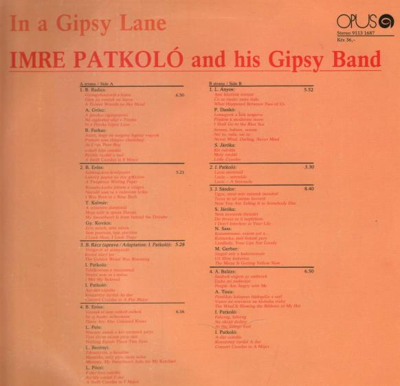 Imre Patkoló and his Gipsy Band - In a Gipsy lane ilustr.1